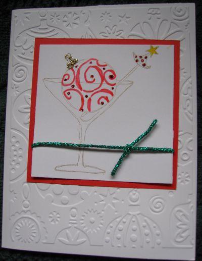 Christmas card christmatini
