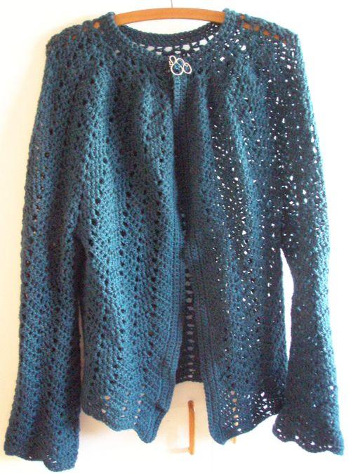 Crochet chevron cardi FO Picture