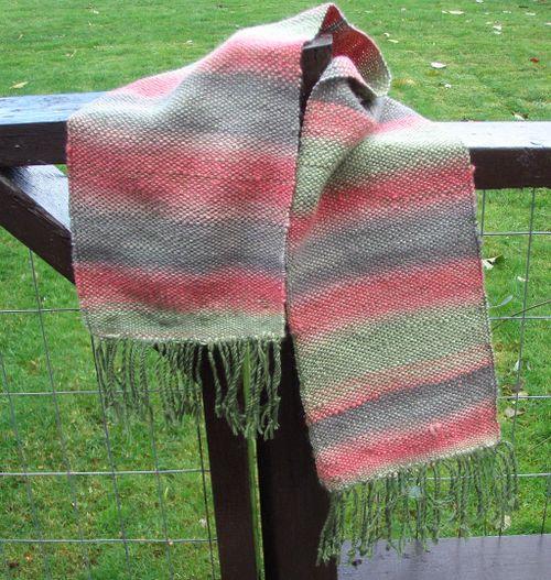 1st handspun scarf 1