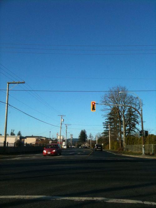 Nov blue sky