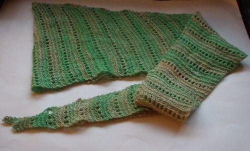 Handspun lacy baktus 2