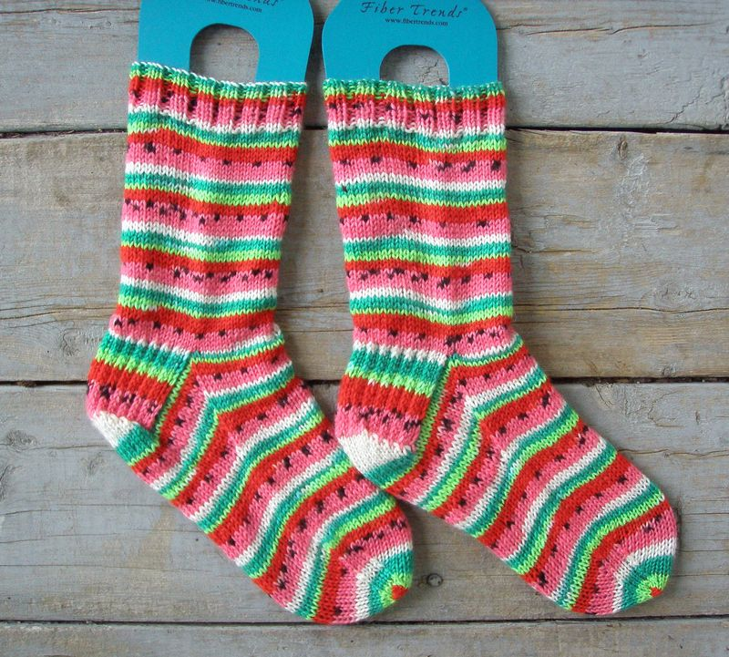 Watermelon socks 1