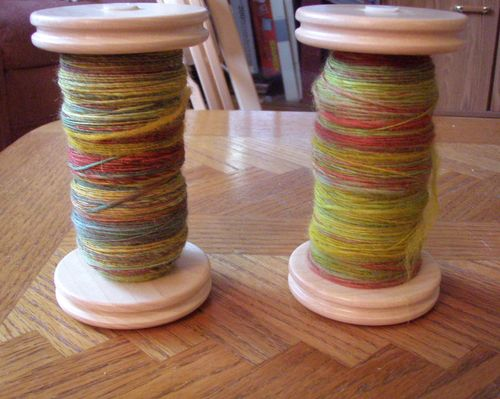 Cmf bfl Druidenzauber first two bobbins