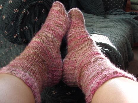 First_handspun_socks_feet